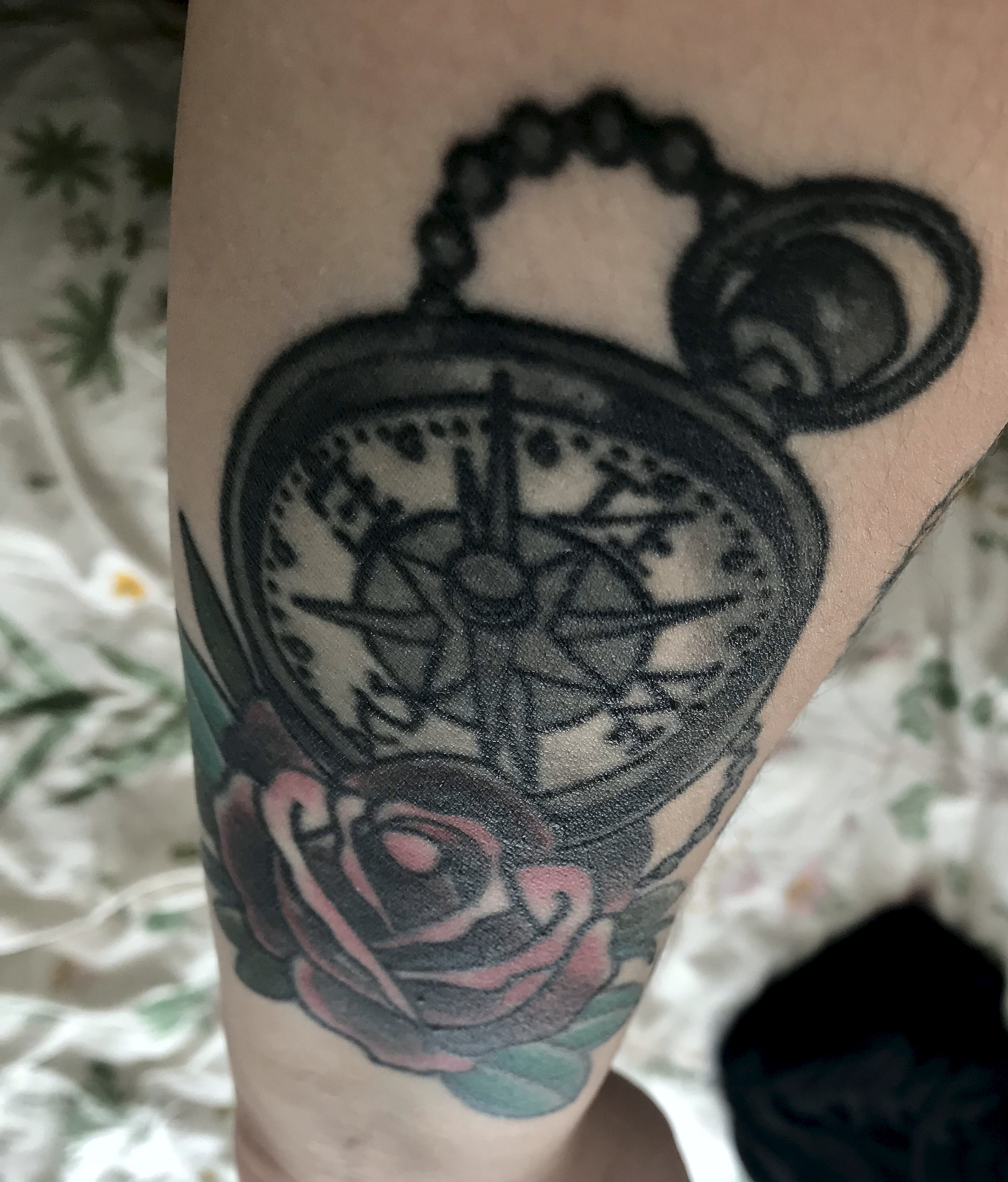 Rose & Compass, back forearm. London, Summer 2015.