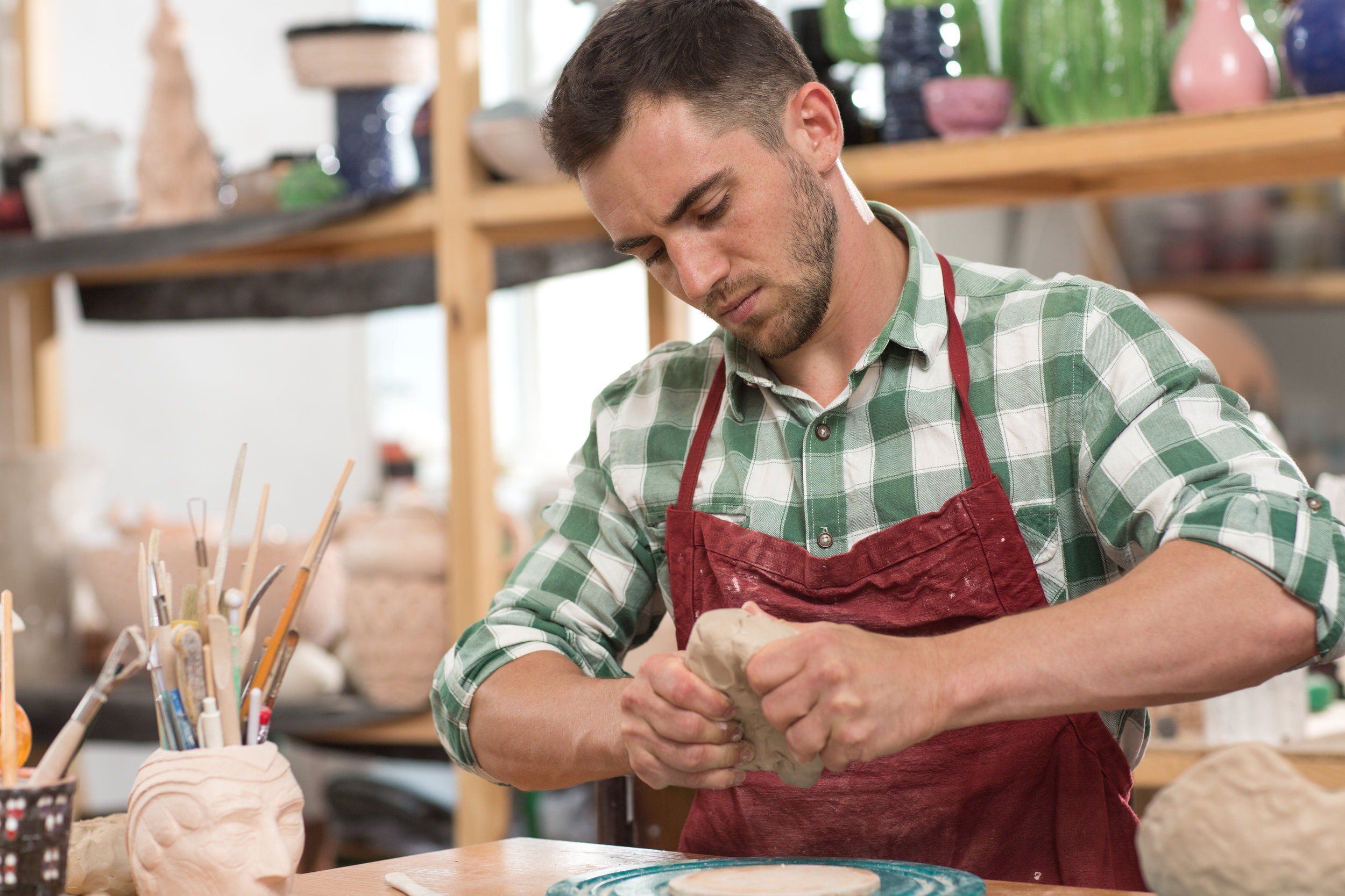 3. Focus - During the pottery process, outside influences don't affect the work which allows one to shift their focus towards their creation. Being able to fully focus on a project helps the mind relax and improves efficiency. Learning how to shift and place focus on a specific task assists in all aspects of life.