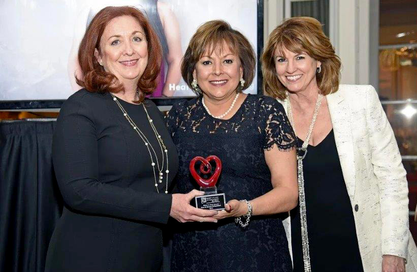 Susan with then Governor Susana Martinez and Senator Candace Gould at the Heart and Soul Awards Ceremony
