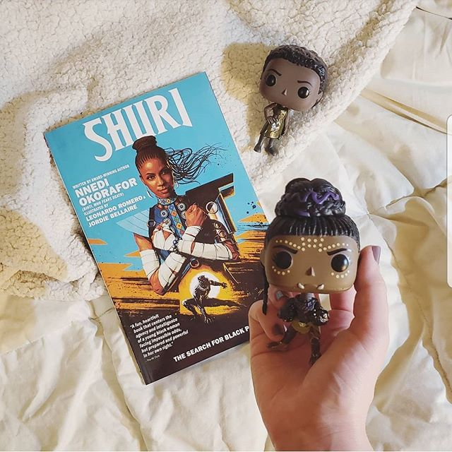 Anyone else read and loved the new Shuri comic? I'm here for anything to do with my favorite genius inventor princess, especially if it's written by Nnedi Okorafor. . . . . . . . #bookstagram #bookgram #booklife #bookworm #booknerd #booknerdigans #igbooks #bookflatlay #bookaholic #comics #comicbooks #shuri #shuricomic #nnediokorafor