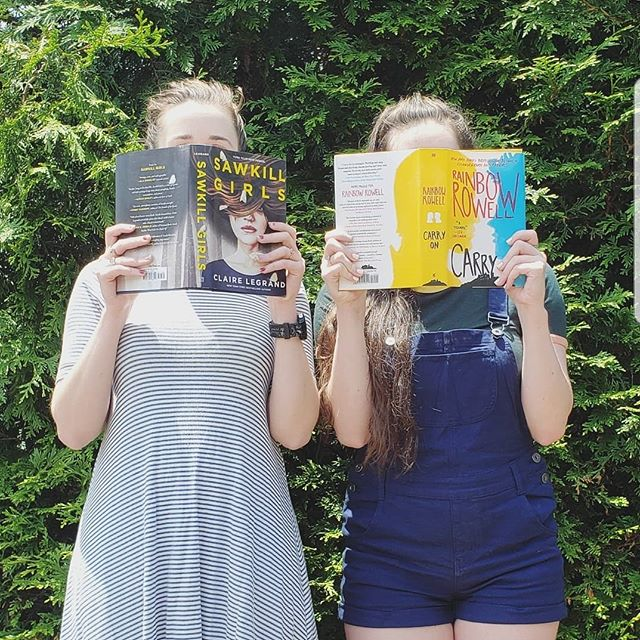 New profile photo, plus a bit of a sneak peek at some of our upcoming reads planned for this fall 😉 . . . . . . . #bookstagram #bookgram #booklife #bookworm #booknerd #booknerdigans #bookish #booklover #instabooks #bookaholic #igbooks #igreads #sawkillgirls #clairelegrand #carryon #rainbowrowell #bookpodcast #podcastlife #bookclub