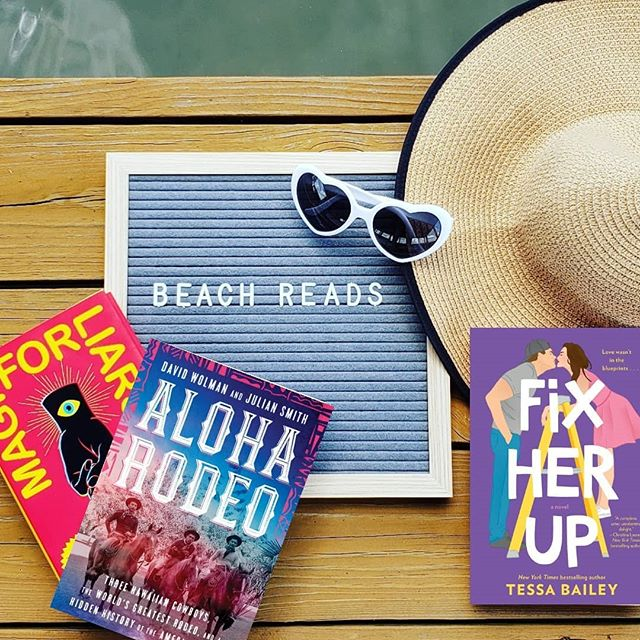 """Looking for some great reads to take on vacation? In our latest episode Sarah and I discuss our take on """"beach reads"""" and which books we think are perfect for some relaxation this summer. Listen on your favorite podcatcher or at unassignedreadingpod.com . Have you read any great beach/ vacation reads this year? . . . . . . . . #bookstagram #bookgram #booktography #instabooks  #yalit #booknerdigans #bibliophile #booknerd #bookaholic #yabooks #bookphotography #yafiction #youngadult #booklove #coverlove #bookcovers #bookworm #igbooks #ilovebooks #instabooks #booksofinstagram #igreads #ladypodsquad #podcaster #bookpodcast #magicforliars #fixherup #aloharodeo"""