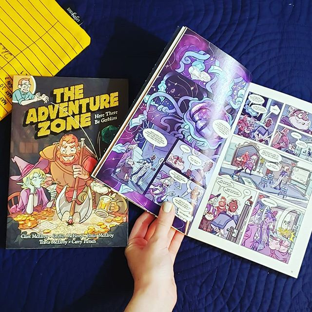 Who else is super excited about vol 2 of The Adventure Zone? I got my copy yesterday and read the whole thing in one sitting. So good. . . . . . . #bookstagram #bookgram #booklife #bookworm #booknerd #booknerdigans #bookish #booklover #instabooks #bookaholic #igbooks #bookflatlay #igreads #taz #theadventurezone #murderontherockportlimited #comics #comicbooks #graphicnovel