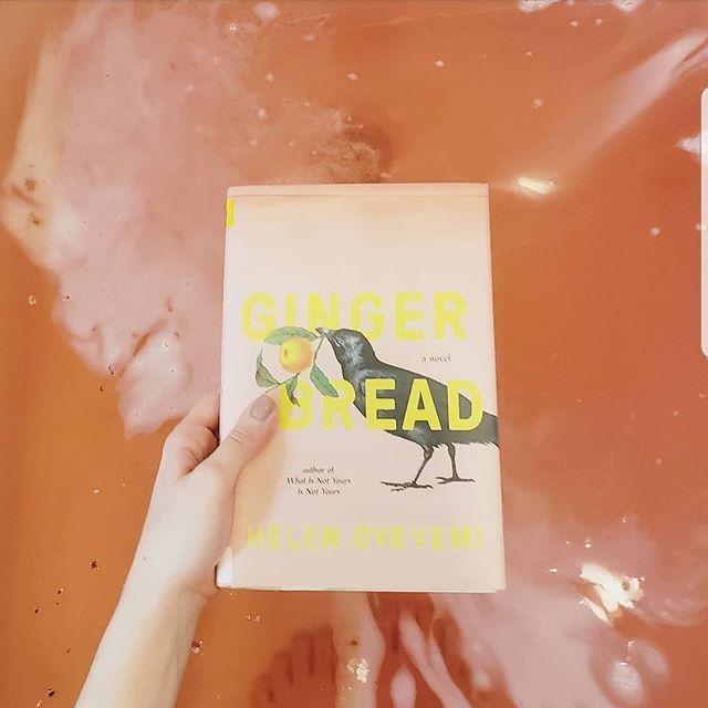New read and a bathbomb to match . What are you all reading this weekend? . . . . . . . . #bookstagram #bookgram #booklife #bookworm #booknerd #booknerdigans #bookish #booklover #instabooks #bookaholic #igbooks #igreads #bookbath #bookandbath #gingerbread #helenoyeyemi #currentlyreading #currentreads #weekendreads #nowreading
