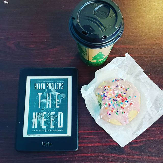 Life has been ridiculously wild, but this morning has books and donuts. . What are you all reading? . . . . . . . . #bookstagram #bookgram #booklife #bookworm #booknerd #booknerdigans #bookish #booklover #instabooks #bookaholic #igbooks #bookflatlay #igreads #booksandcoffee #theneed #currentlyreading #currentreads