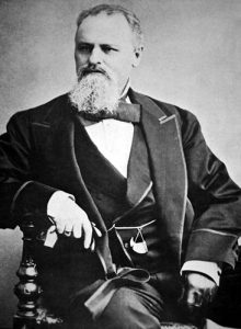 Ben Holladay founder of the Holladay Distillery, The Overland Stage Co, and one of Weston's Greatest Forefathers