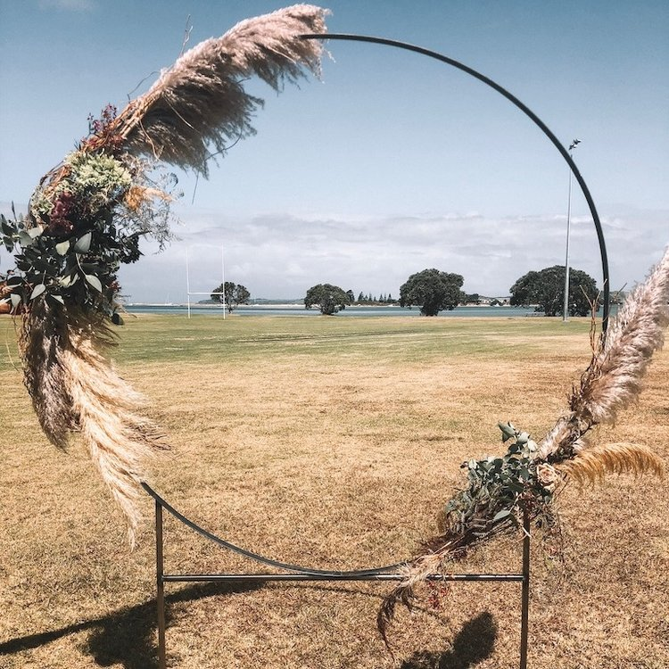 Round Steel Wedding Arch
