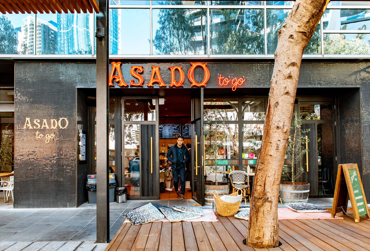 asado to go - Adjacent to Asado, our sandwicheria offers everything from your morning coffee and breakfast empanadas to fresh salads, quality steaks and a jar of chimichurri to take home.