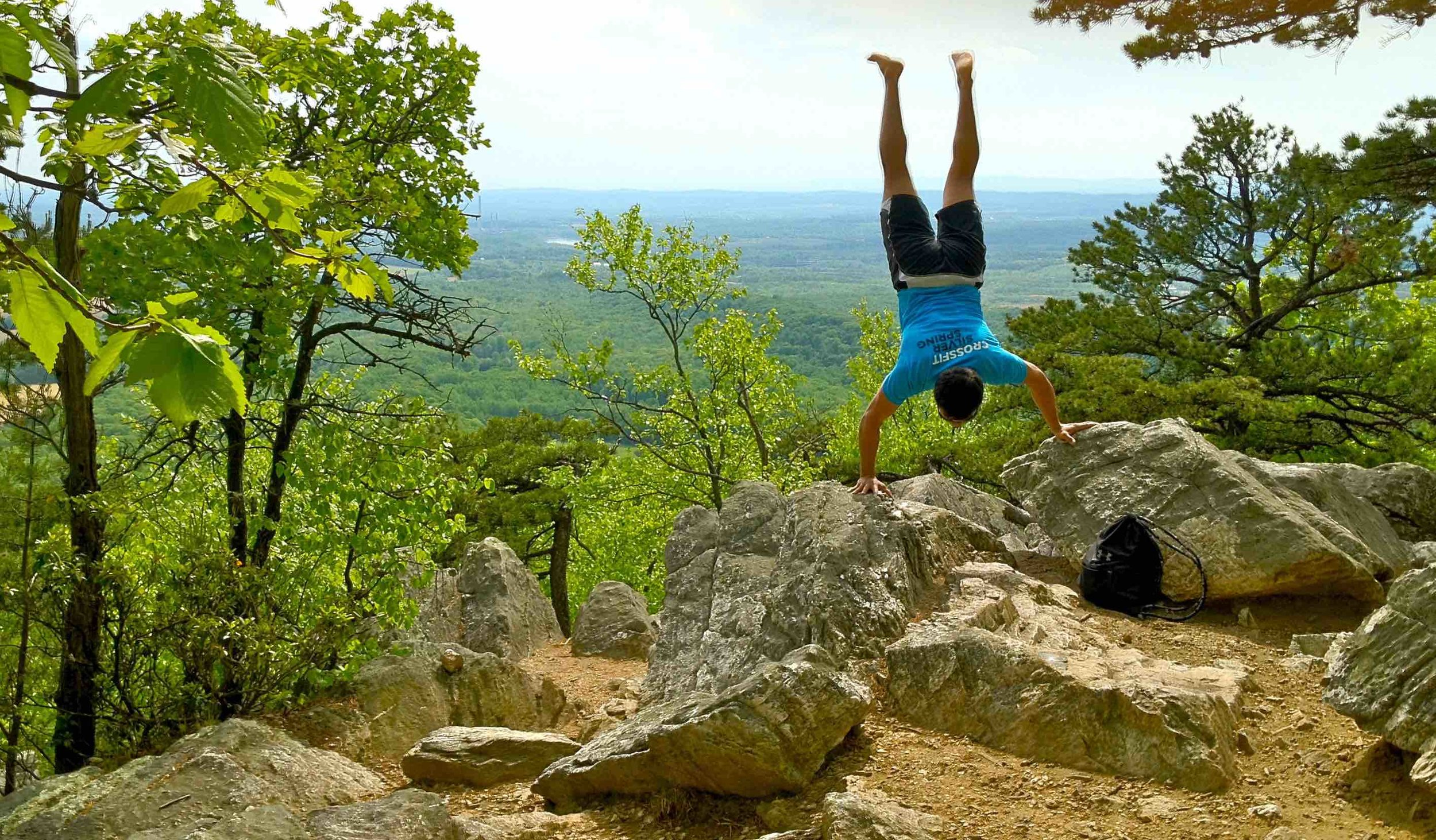 """Marcos doing some """"active recovery"""" at Sugarloaf Mountain"""