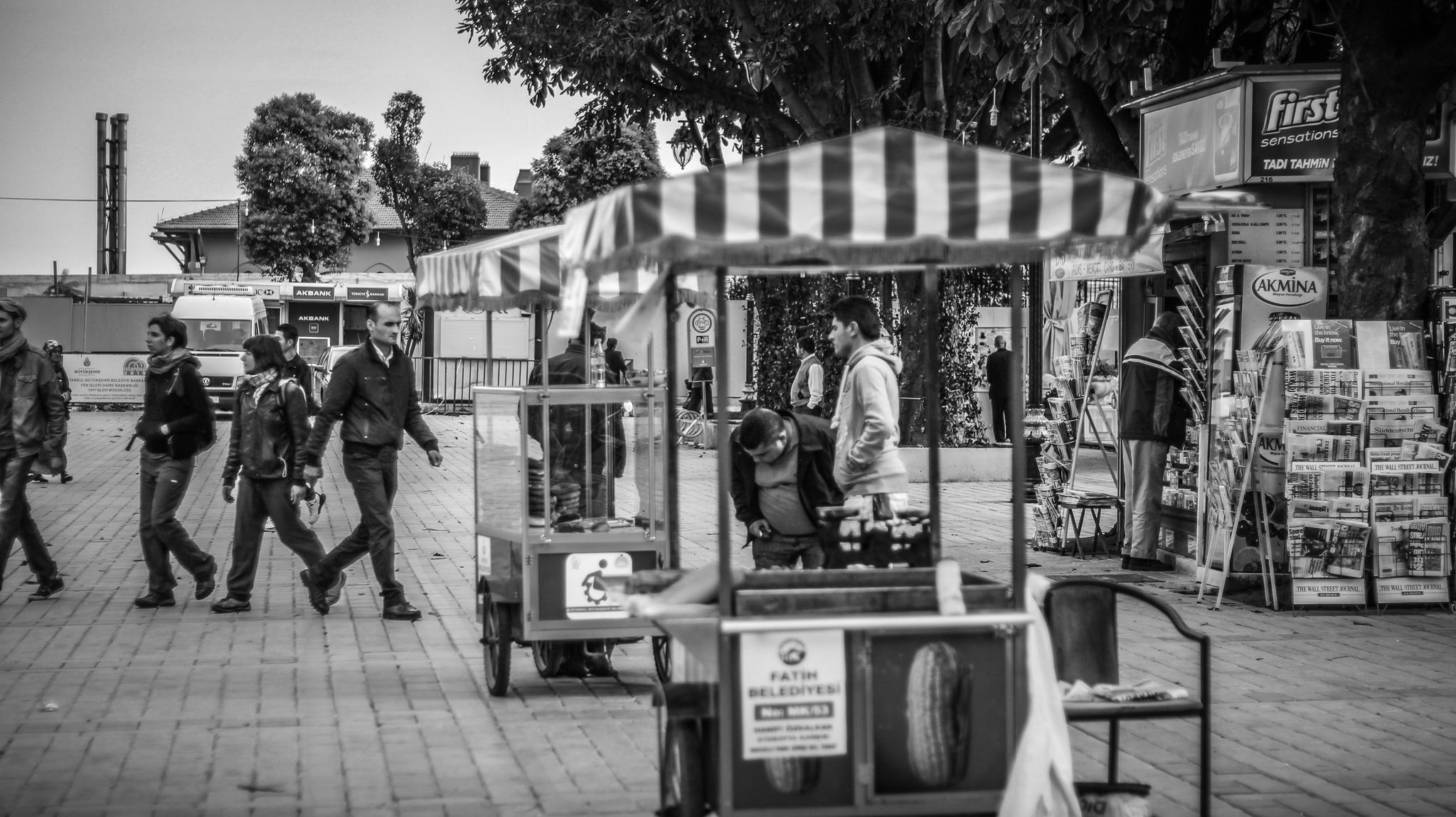 Vendors Outside of the Hagia Sophia