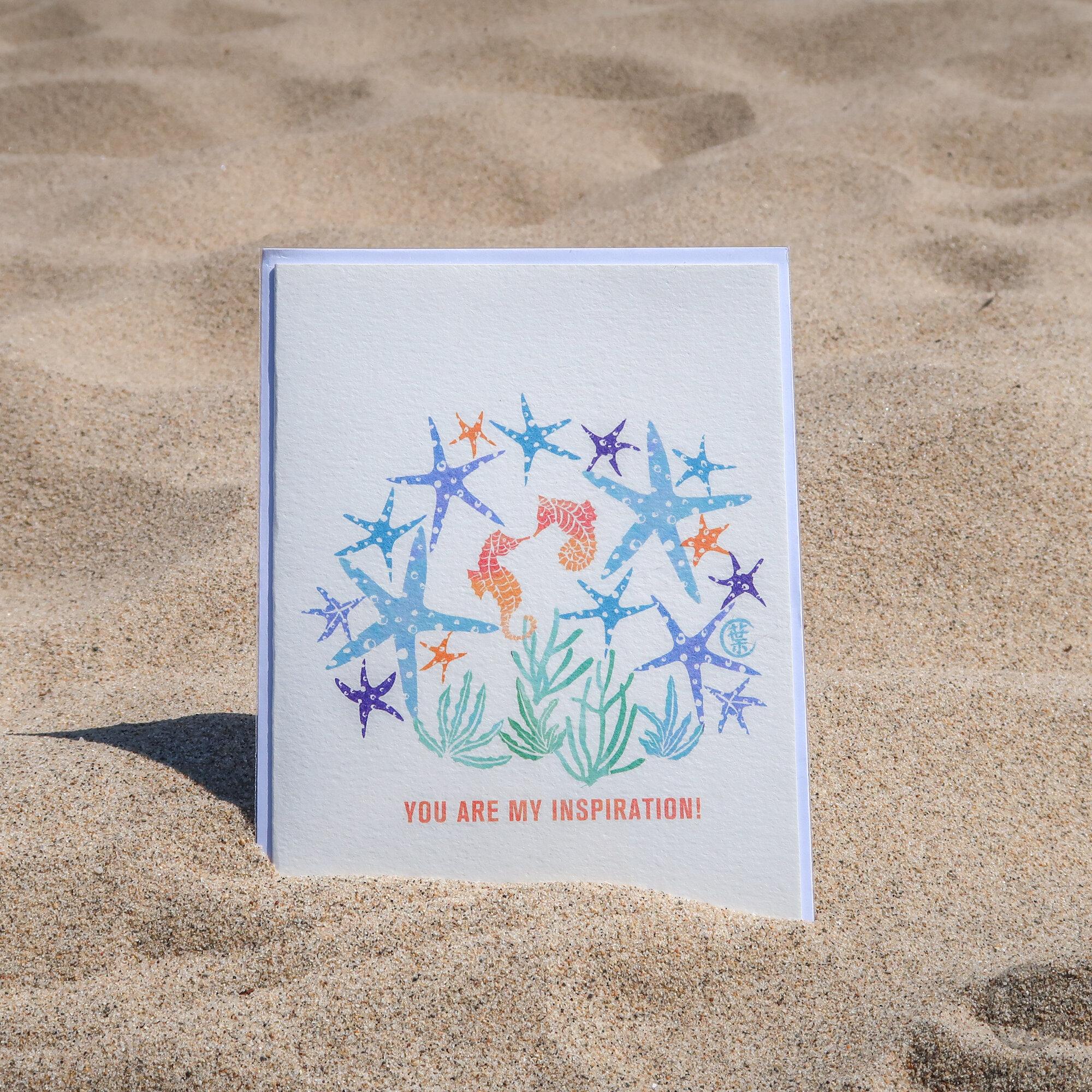 Watercolor Dancing Star Greeting Card | Sea Star, Starfish, Sea Horse