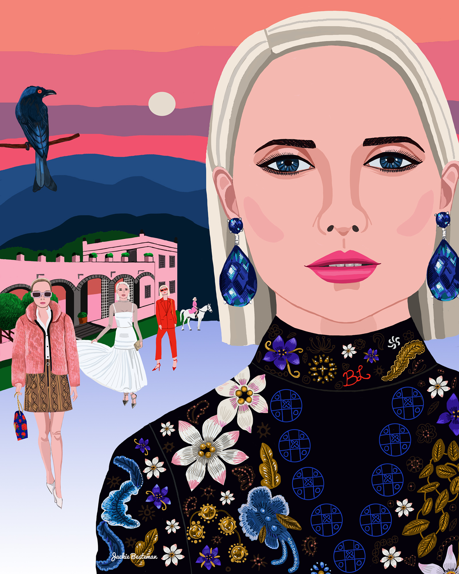 """Beth Levis - """"I love the attention to detail and authenticity she has created by illustrating some of my fashion moments. The memories she captivates and the technique she uses to do so is both inspirational and remarkable"""""""