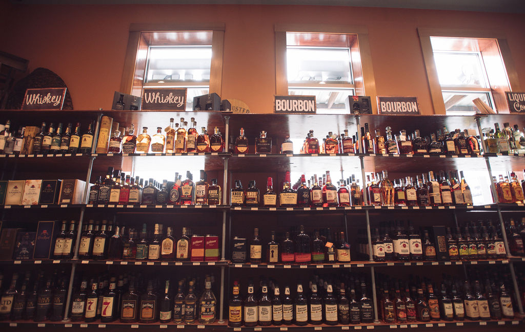 BEHOLD - The wall of whiskey & bourbon.