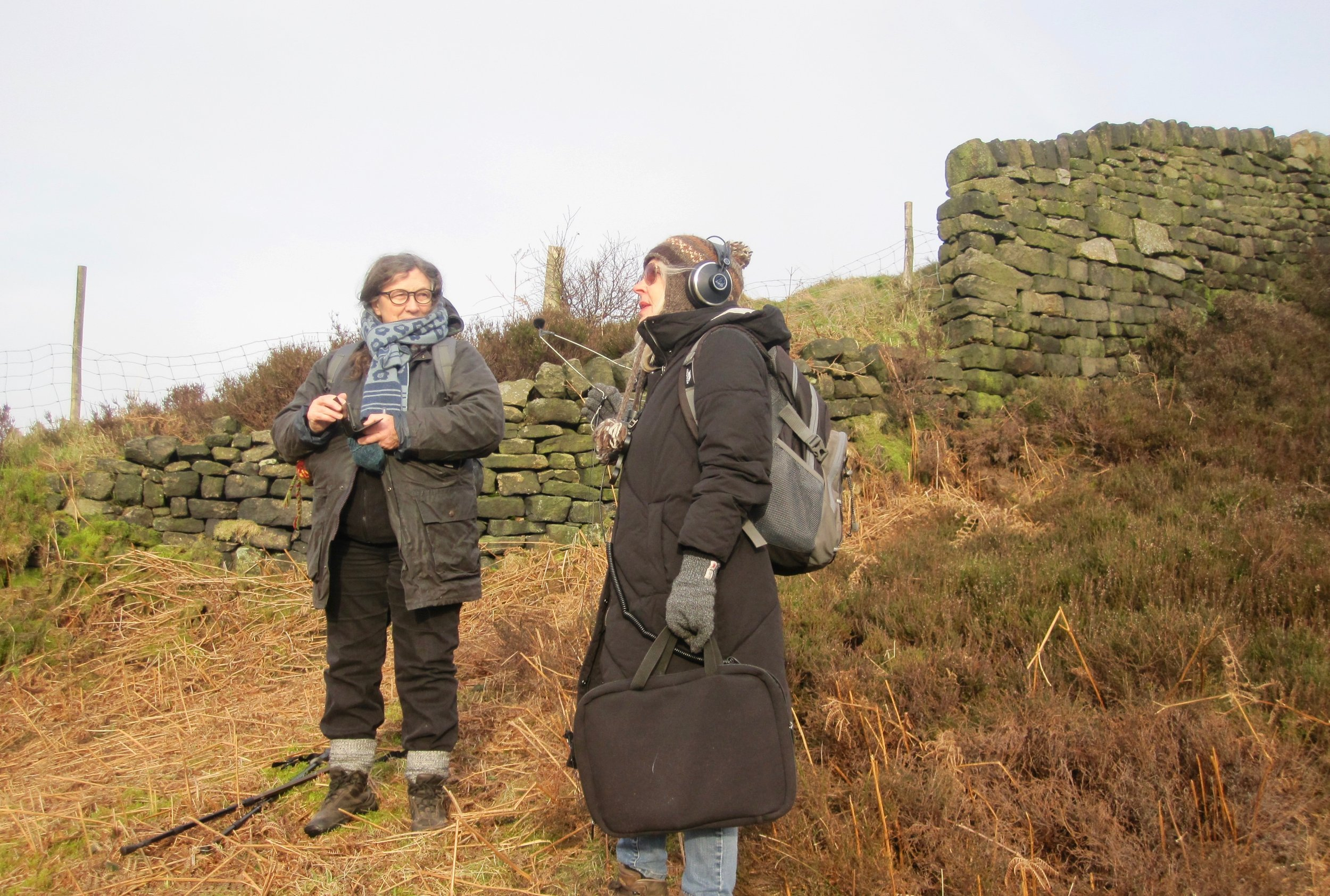 Listening-in to the Upper Calder Valley. A group soundwalk undertaken whilst composing  Rewilding (2019)