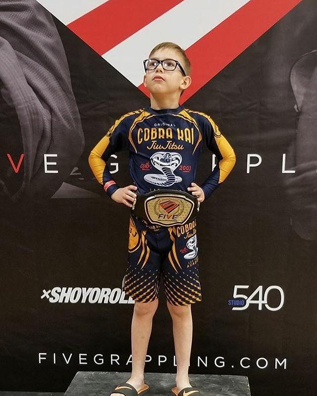 Super Ian from Cobra Kai Downtown. First place in his no gi division. #bjj #ckjj #jiujitsu #fivegrappling