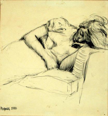 Person Sleeping on Sofa 1958