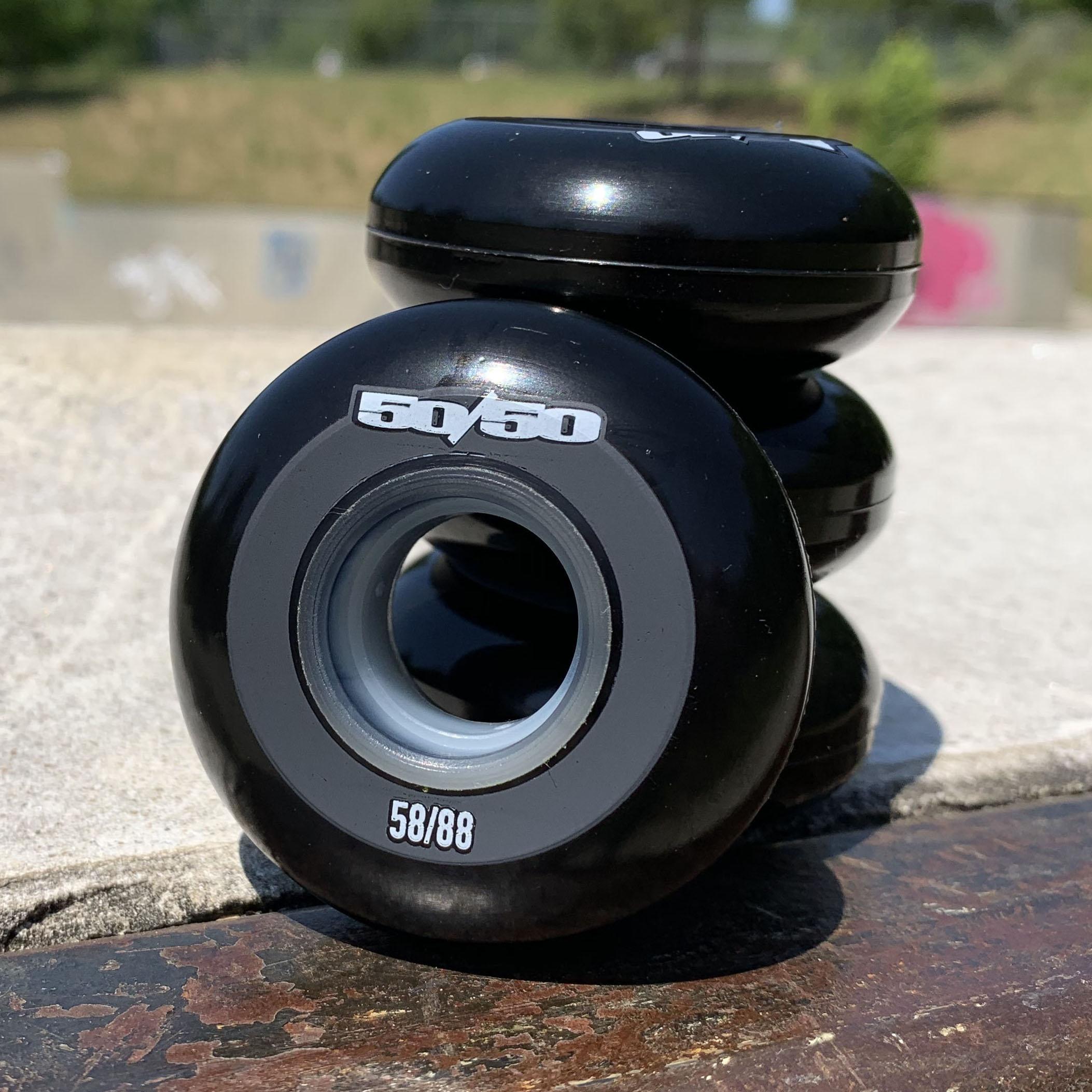 50/50 58mm 88a Wheels