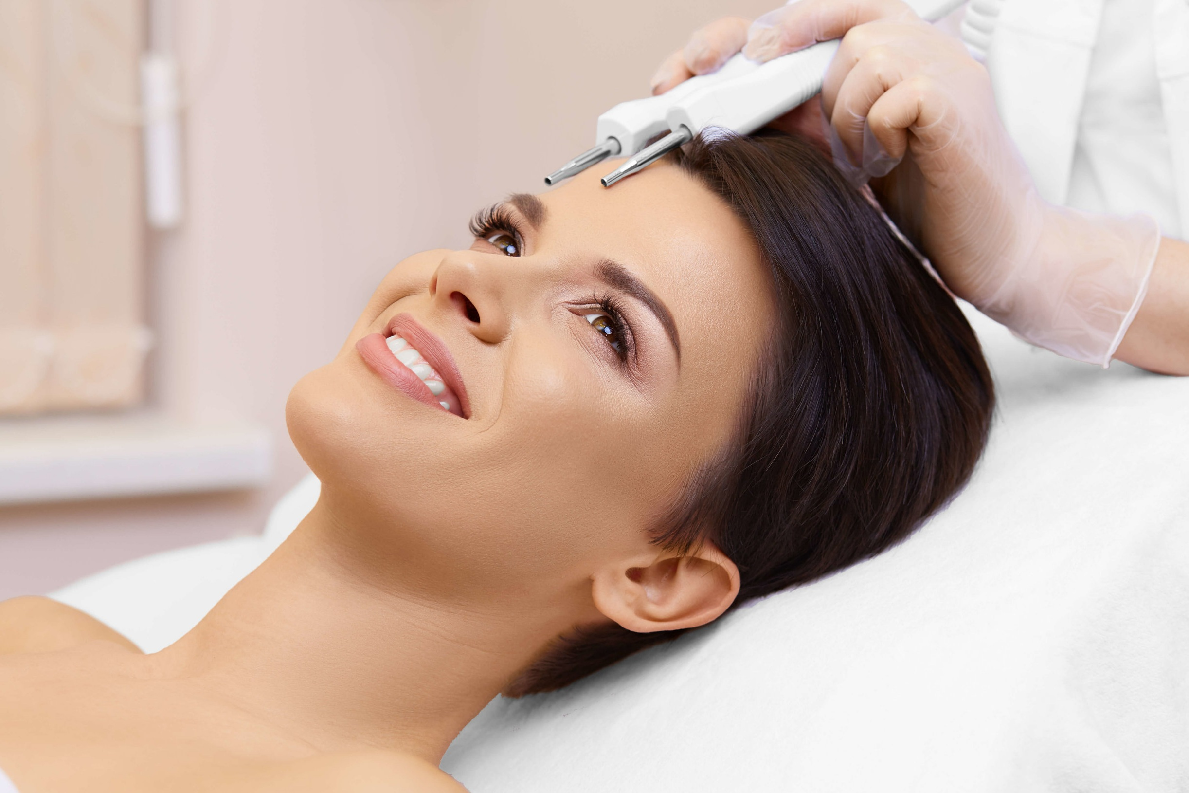Microcurrent - Revolutionary treatment by a skilled aesthetician enhances the body's natural electrical impulses and cellular repair. Treatment to the face and neck will increase natural collagen, natural elastin, circulation, and cellular repair. Treatment can lead to firmer skin and minimized appearance of fine lines and wrinkles.$185A series of 10 sessionsTo achieve optimal results, 10 treatments are recommended.$1,530 for the first 9 sessions, the 10th session is free