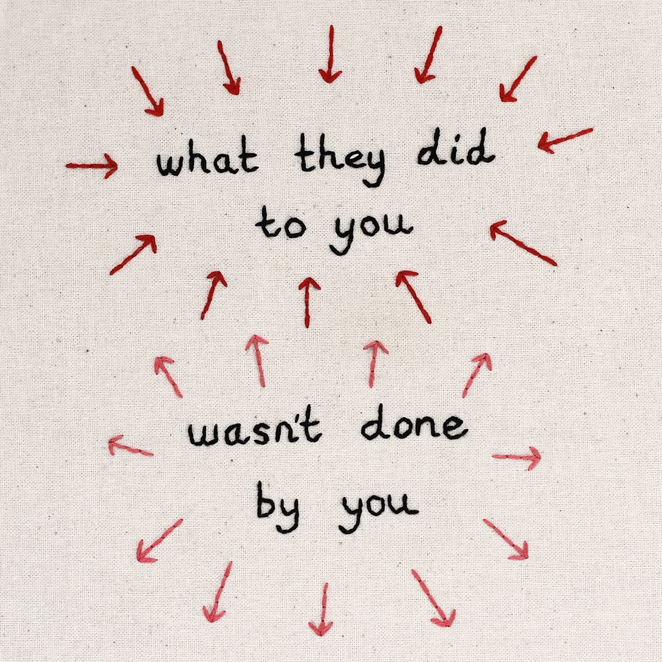 What they did to you wasn't done by you