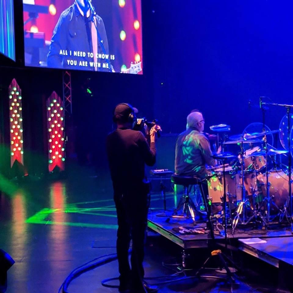 Rick drumming at LCBC Church