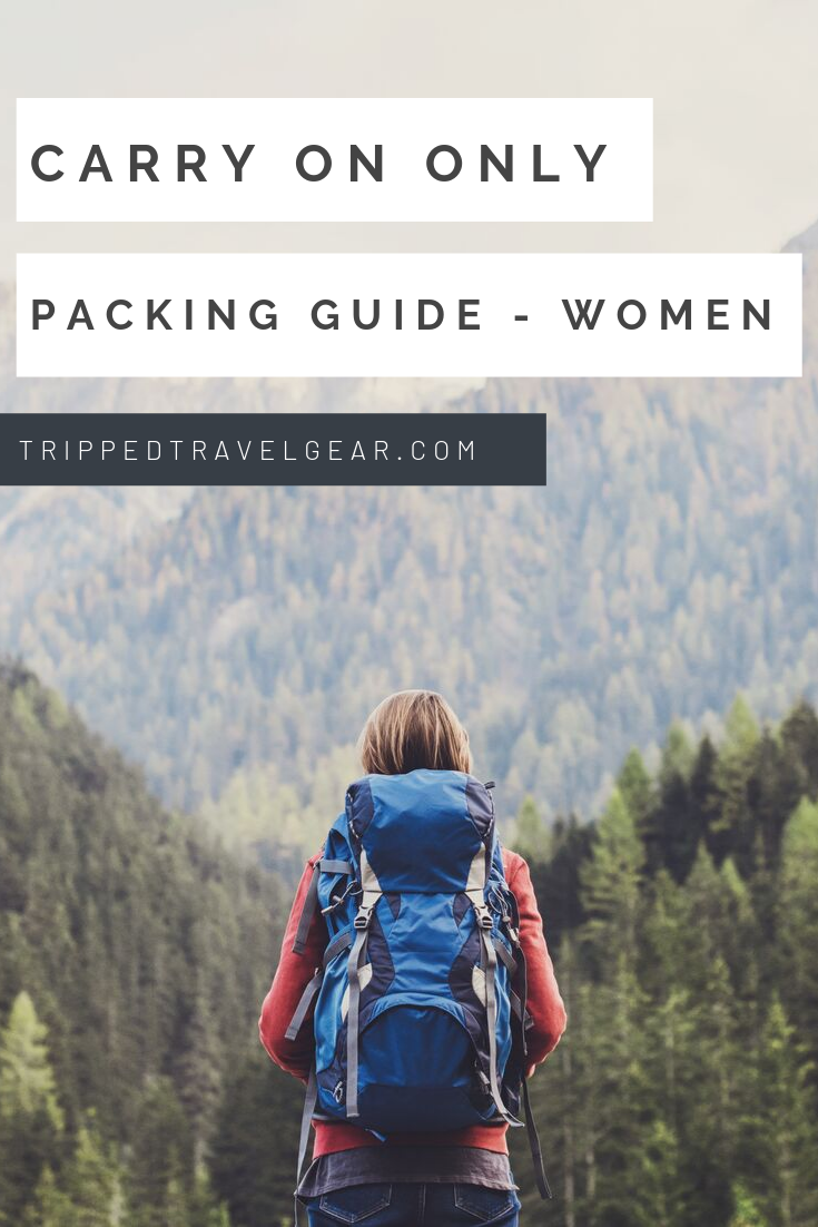 carry on packing list for women