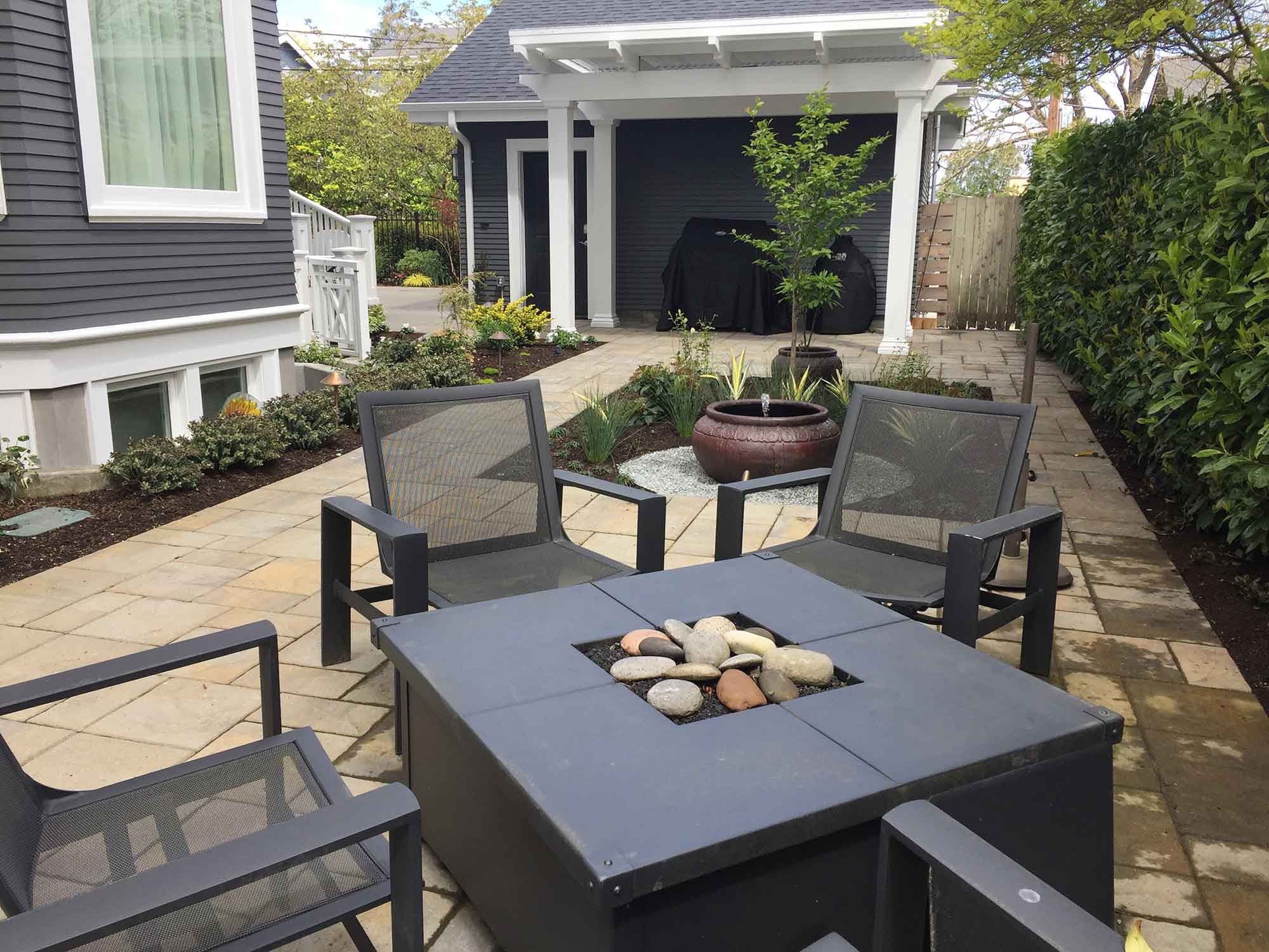 BACK YARD PATIO AND FIREPIT