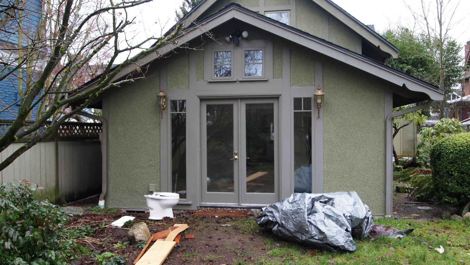 BEFORE:  NEED FOR OUTDOOR LIVING SPACES
