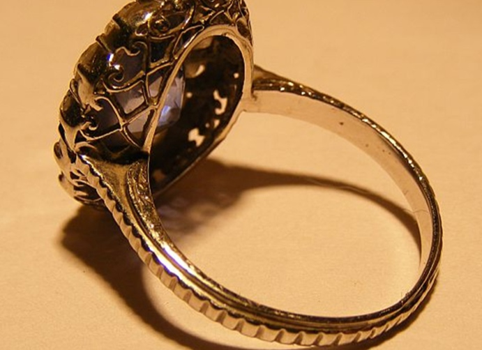 vintage diamond ring inside