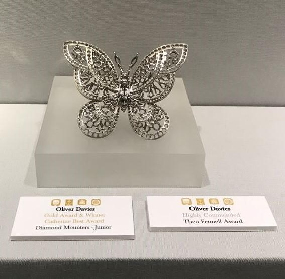 Gold Award & winner in the Junior Diamond Mounters category