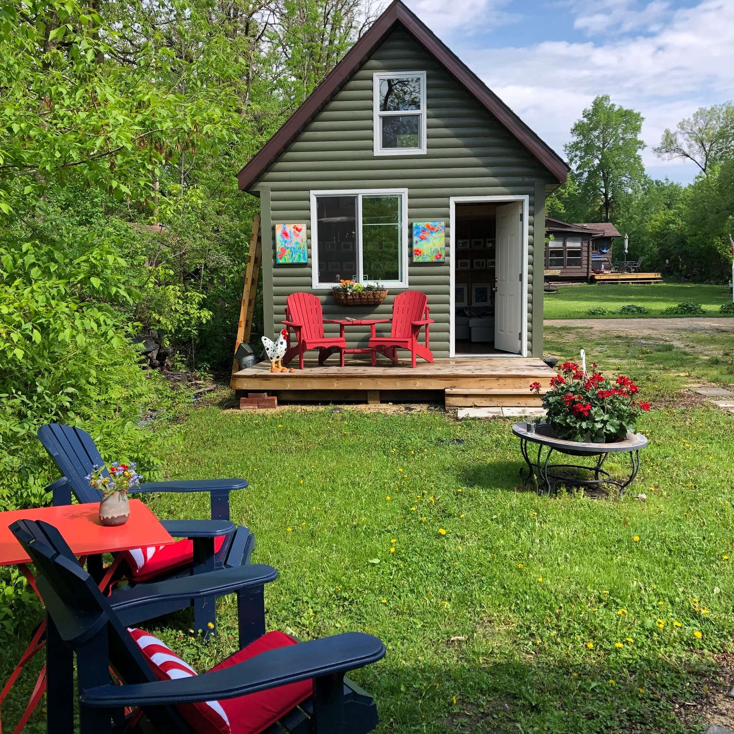 The bunkie ready for company in June.