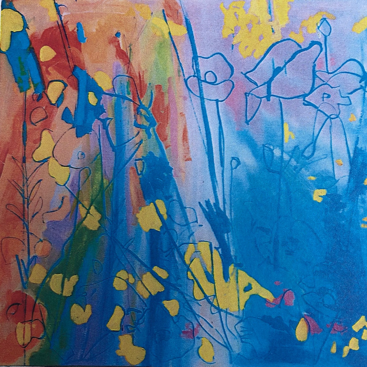 I paint with a printmakers mindset and one colour at a time on my brush.
