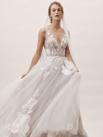 """Willowby by WATTERS - PRICE RANGE: $1350 - $2600BOHO CHIC.Willowby takes the road less traveled,with a natural, airy free-spiritedness.Designed to elevate every moment, thesedresses are the very definition of""""sparking joy""""."""
