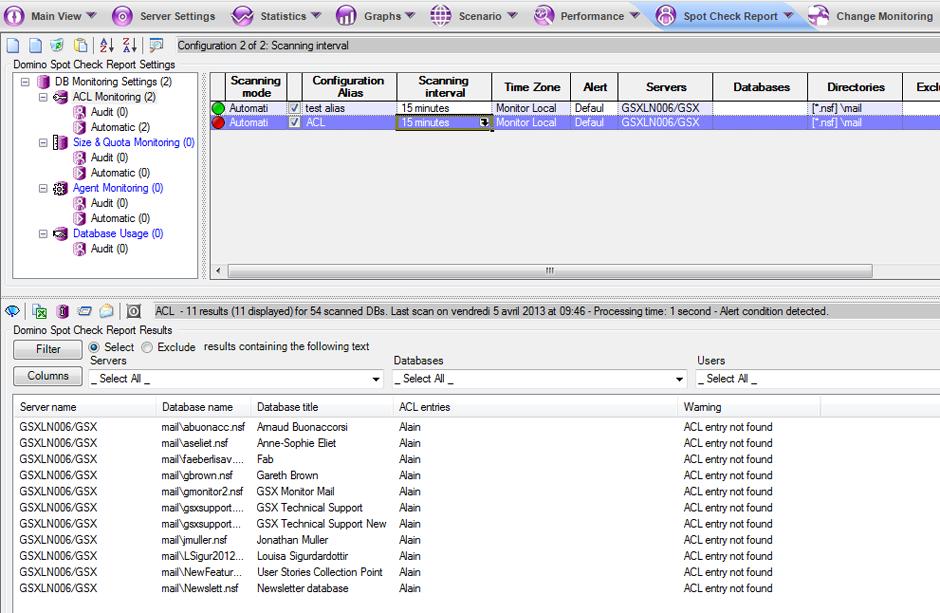 データベースのアクセス制御監視