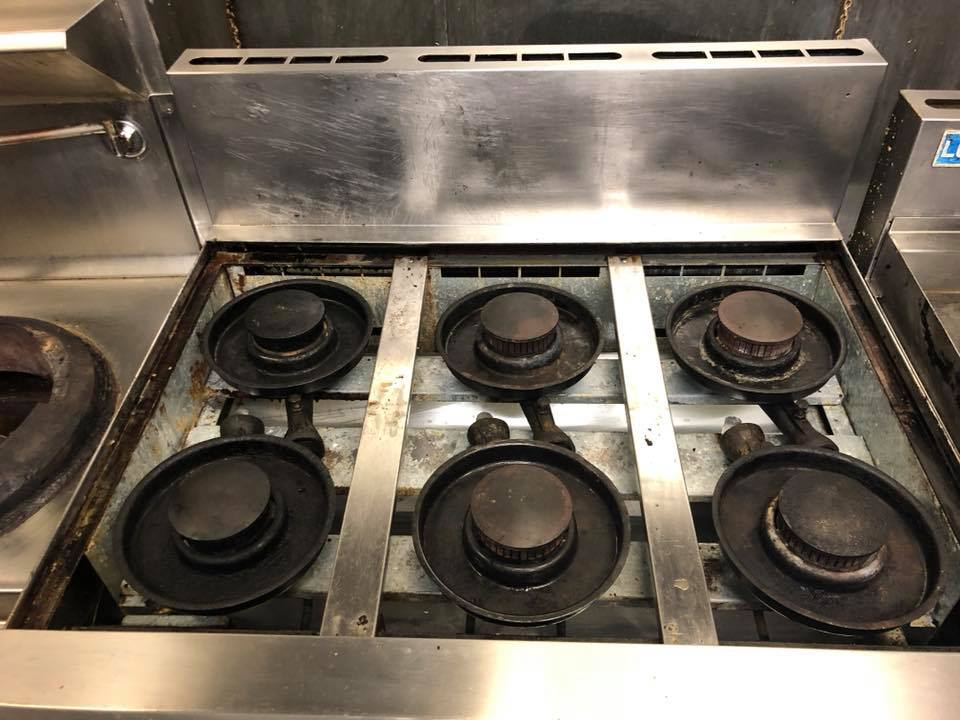 6 Burner Commercial Stove Heavy Duty Clean