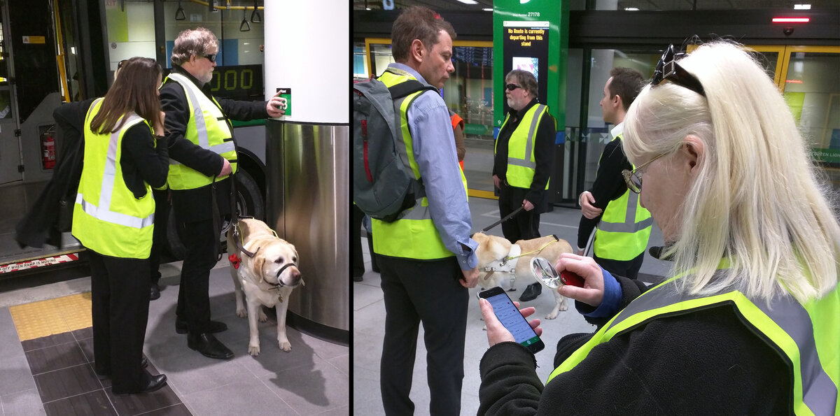Jul 2016 - We launch Transperth Assist to help the visually impaired navigate Perth's new state of the art busport.