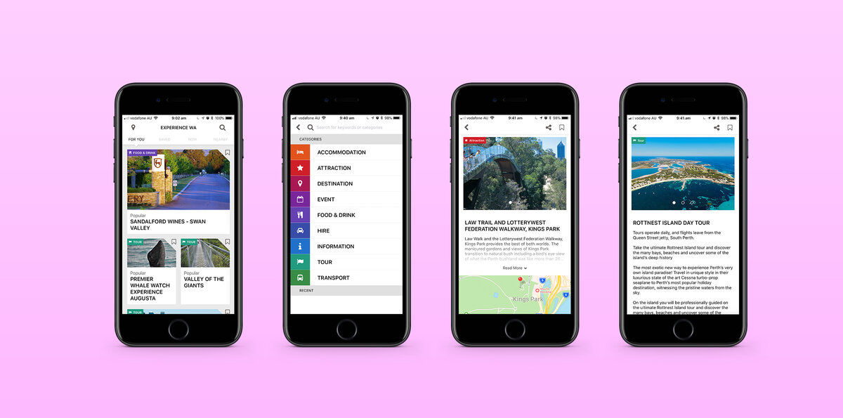 Jun 2017 - A ground up rebuild of Tourism WA's app is launched. Includes machine learning service to deliver personalised recommendations.