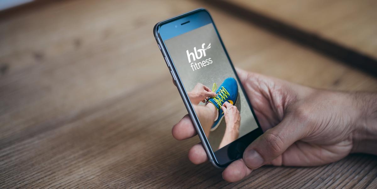 HBF Fitness App at Desk