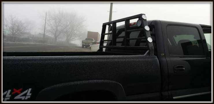 Custom Chevy cab guard