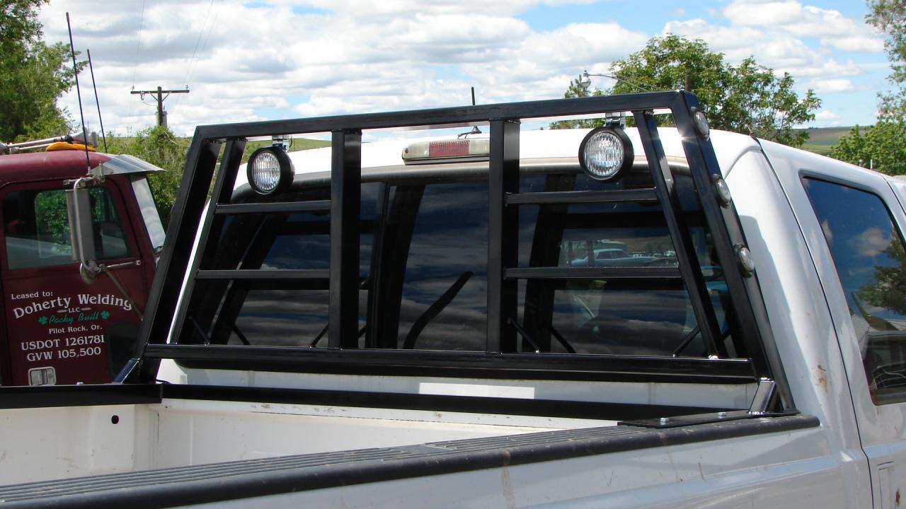 Custom Ford cab guard