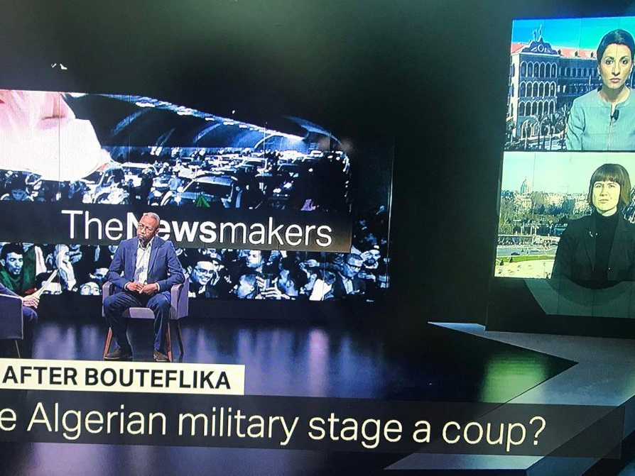 "TRT World ""The Newsmakers"" following Bouteflika Resignation - 5 Apr 2019"