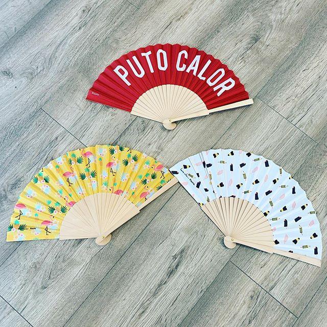 Puto calor! Abanicos graciosos. #abanico #putocalor #conceptstore #aguamarga #aguaamarga #cabodegata