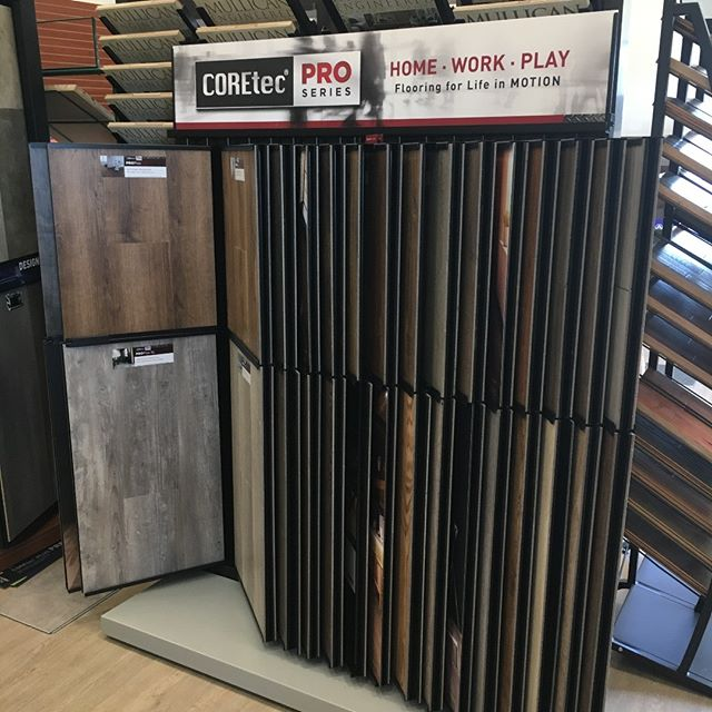 Hold onto your hats, COREtec has just released a BRAND NEW line, and we are one of the ONLY retailers in the area carrying it! The company you've known and loved for years has gained even more well-deserved real estate in our showroom!!!! Stop by today to see what the buzz is all about! #coretec #proseries #luxuryvinylplank #waterproof #petproof #kidproof #lifeproof