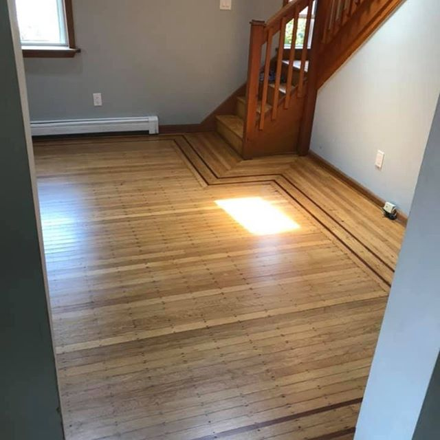 These restoration projects are getting more and more beautiful!! Check out this one from Ventnor City! Original red oak floors with walnut accent strips. Elegant, unique, and simply gorgeous! Call us to transform your floors today! (609)305-5047 #hardwoodfloors #restoration #redoak #walnut #sandandrefinish #nofilterneeded #flooringideas