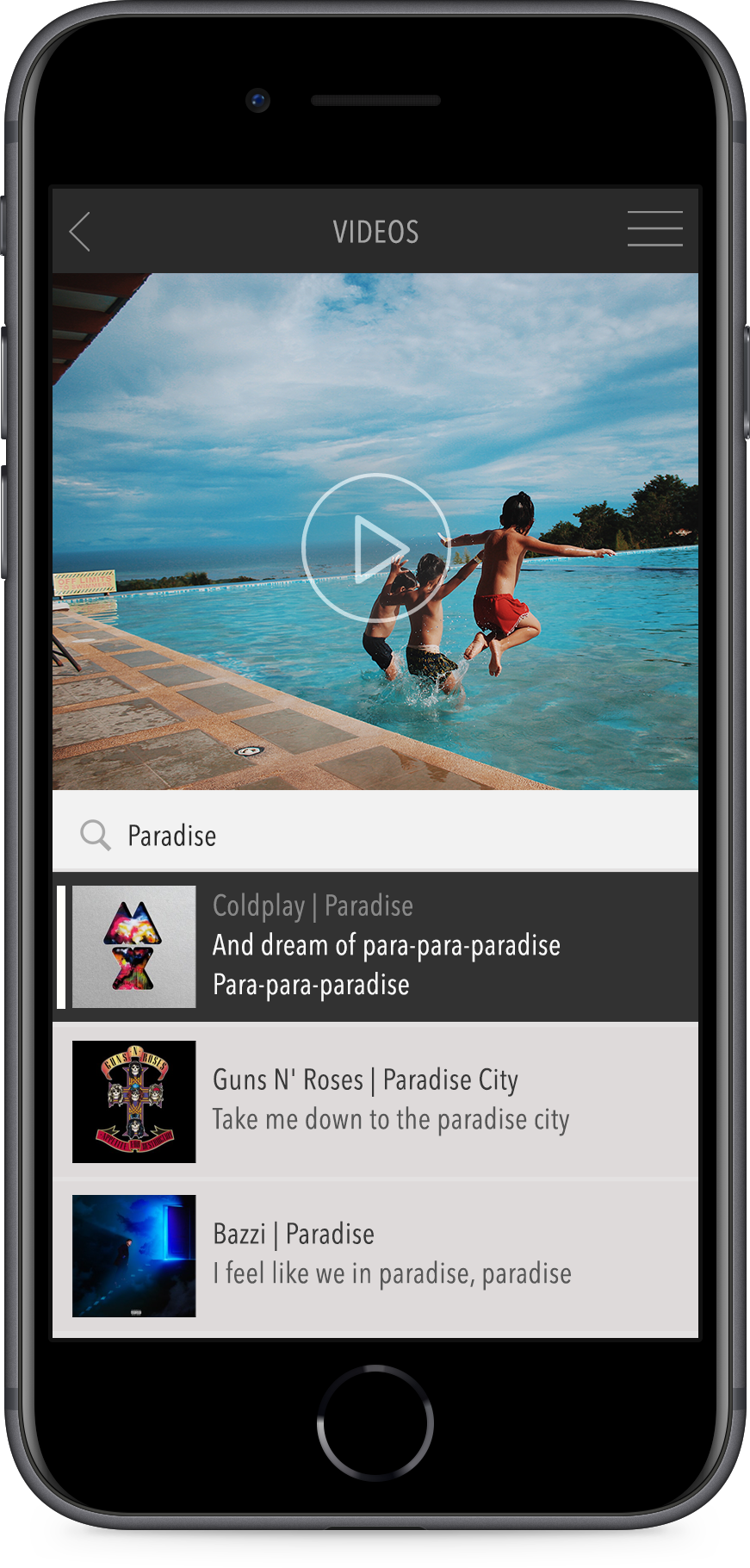 Songclips can be attach to videos and photos from Photo Creator Apps.