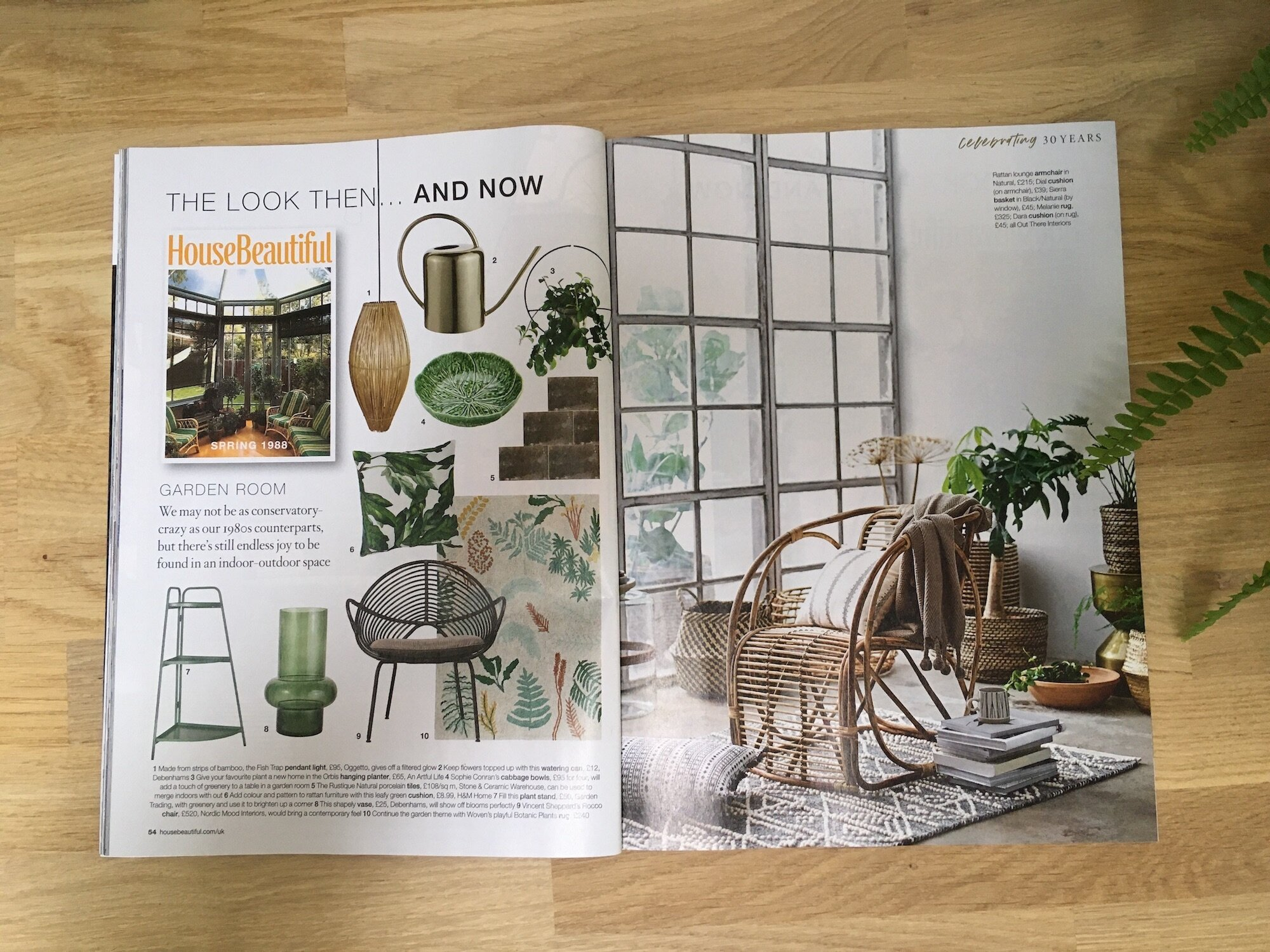 House Beautiful 'Then & Now' October 2019