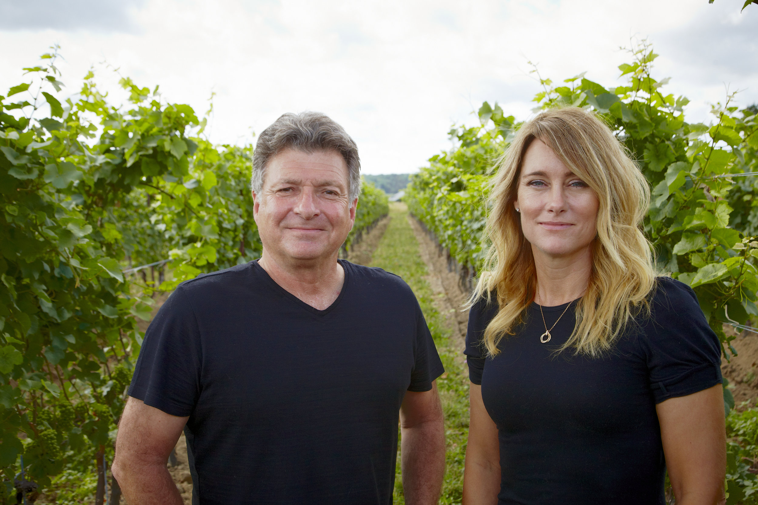 Jeff Neudorf and Winemaker, Kelly Mason