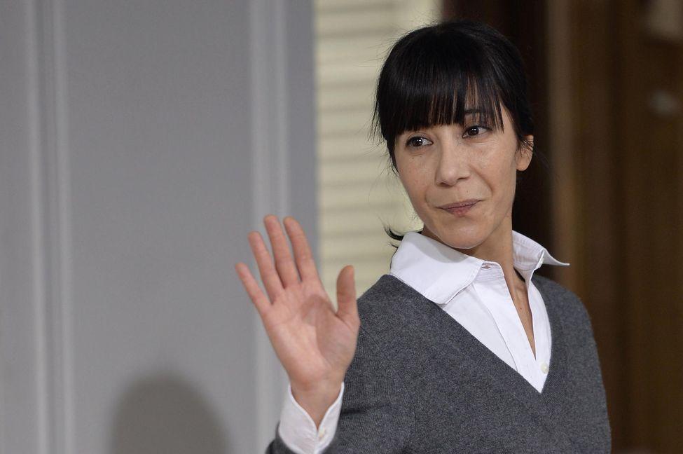 La créatrice franco-marocaine Bouchra Jarrar, en janvier 2015. Photo Miguel Medina. AFP