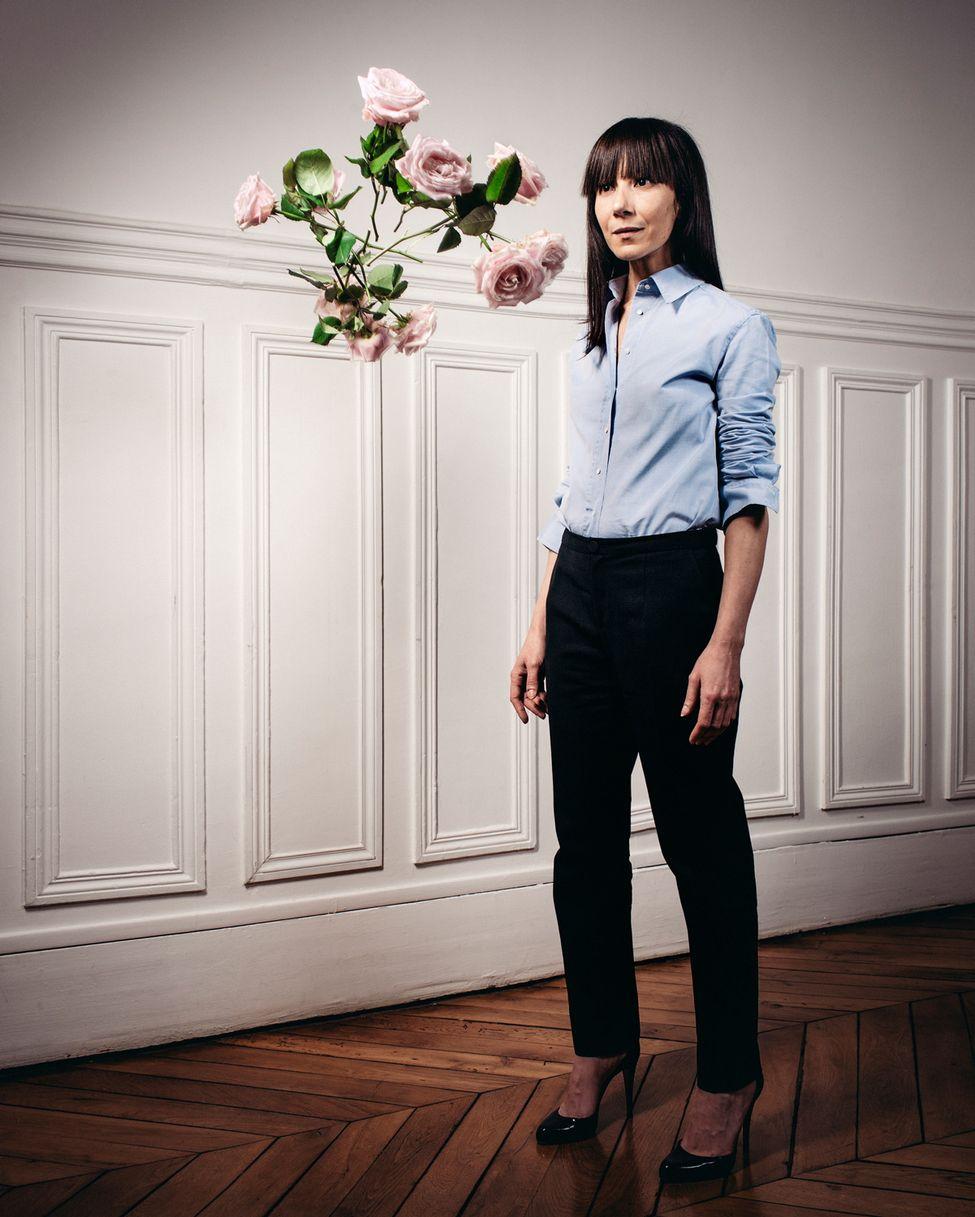 Paris, le 6 janvier 2014. Portrait de Bouchra Jarrar. Photo Audoin Desforges