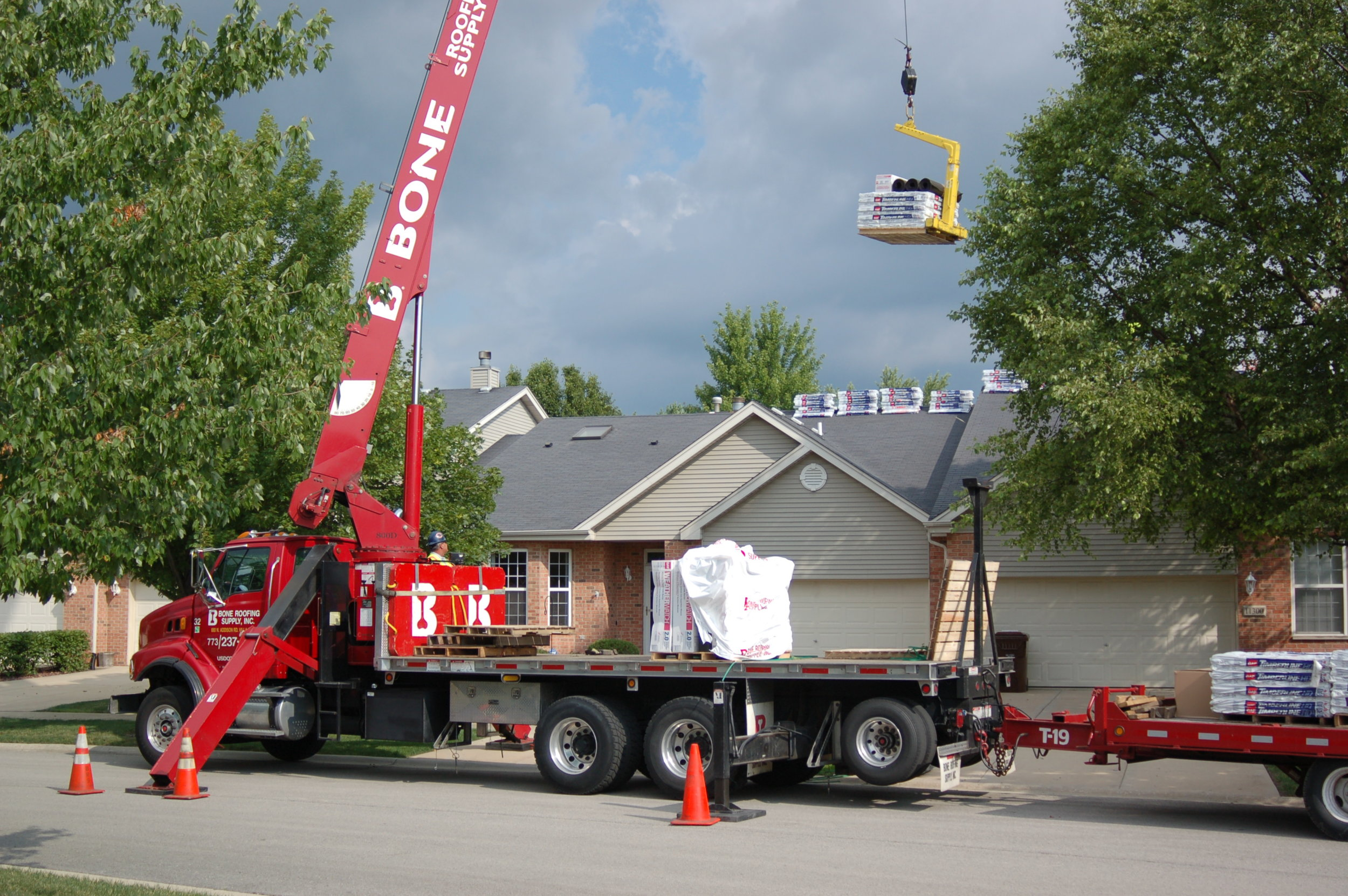 Direct Sales - Direct sales are products shipped by our vendors directly to our customers. We are happy to coordinate direct product orders from our customers to our vendors. Apart from our competition, we offer our trucks, cranes, and moffetts to help our contractor get that material to the roof. Our customer is always our top priority, no matter who is hauling the material.
