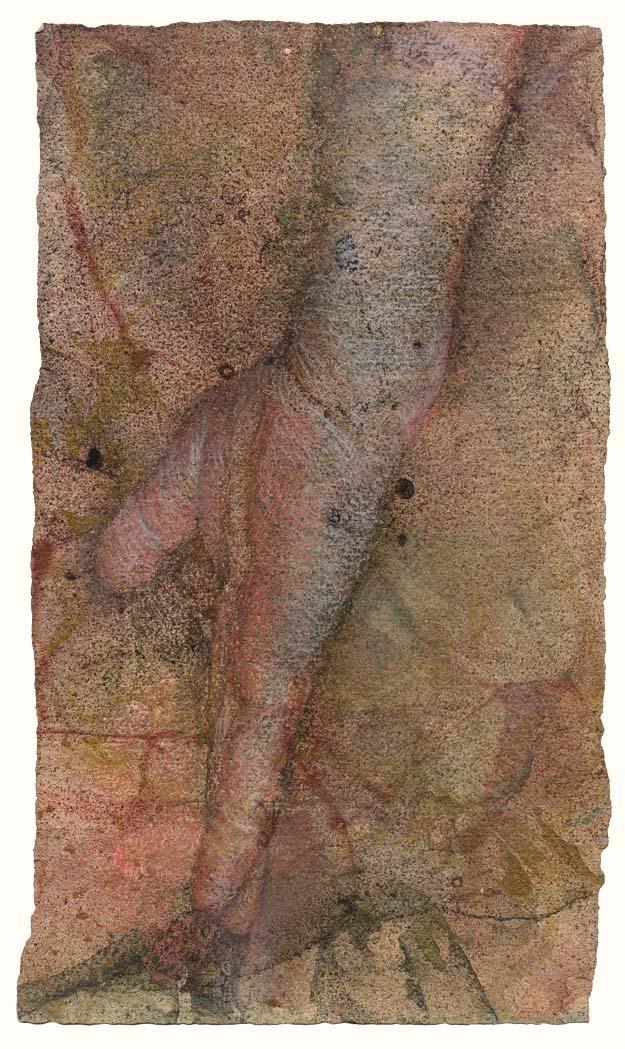 Hand study (twisting figure)